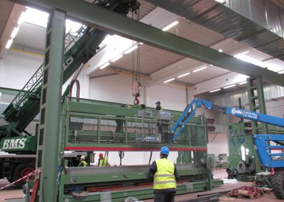 Removal and installation of machines